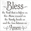Bless this food, home, family and love. Amen vector file download