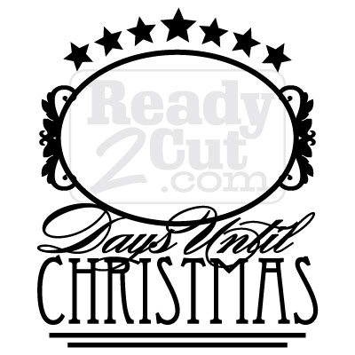 Victorian Style Christmas Countdown Vector File Download