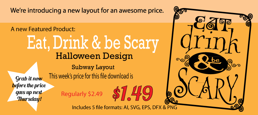 Eat drink and be scary - featured product