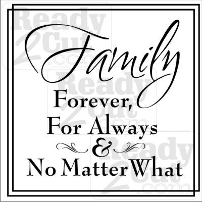family forever for always and no matter what blank art vector. Black Bedroom Furniture Sets. Home Design Ideas