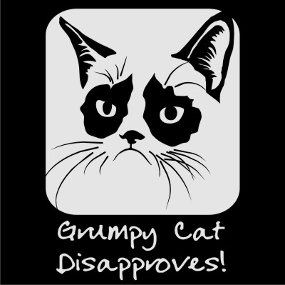 grumpy cat disapproves vector files