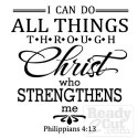 I can do all things through Christ who strengthens me - vector file download