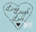 Live Laugh Love with Word Border