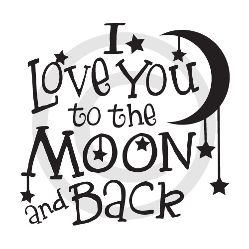 I Love You To The Moon And Back Download Vector