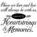 Those we love and lose will always be with us, connected by Heartstrings and Memories . Vector download