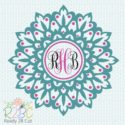 1Mandala for Monogram digitgal file download