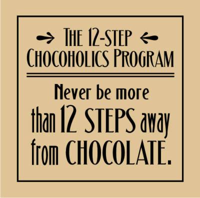 12 Step Chocoholic S Program Ready 2 Cut Designs