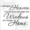 A glimpse of Heaven can be seen through the windows of a happy home.