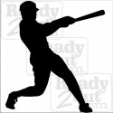 Baseball batter silhouette - vector files