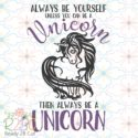 Always be yourself, Be a unicorn, vector file download