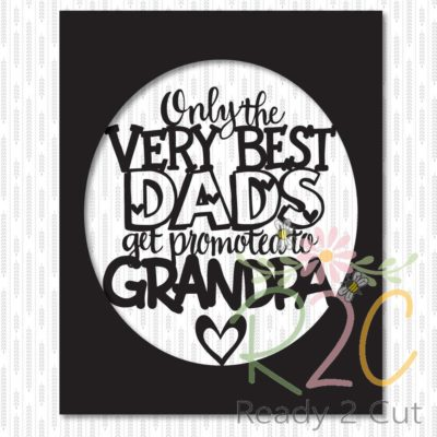 Only the Very Best Dads Get Promoted to Grandpa 8 x 10