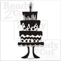Fun and fancy Birthday Cake vector files for download and personal or commercial use.