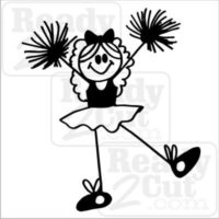 Cheer Girl -stick figure cheerleader