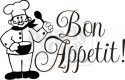Bon Appetit with cartoon chef