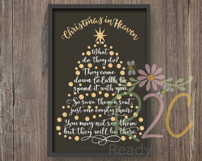 Christmas In Heaven What Do They Do.Christmas In Heaven Tree 3 Design Set