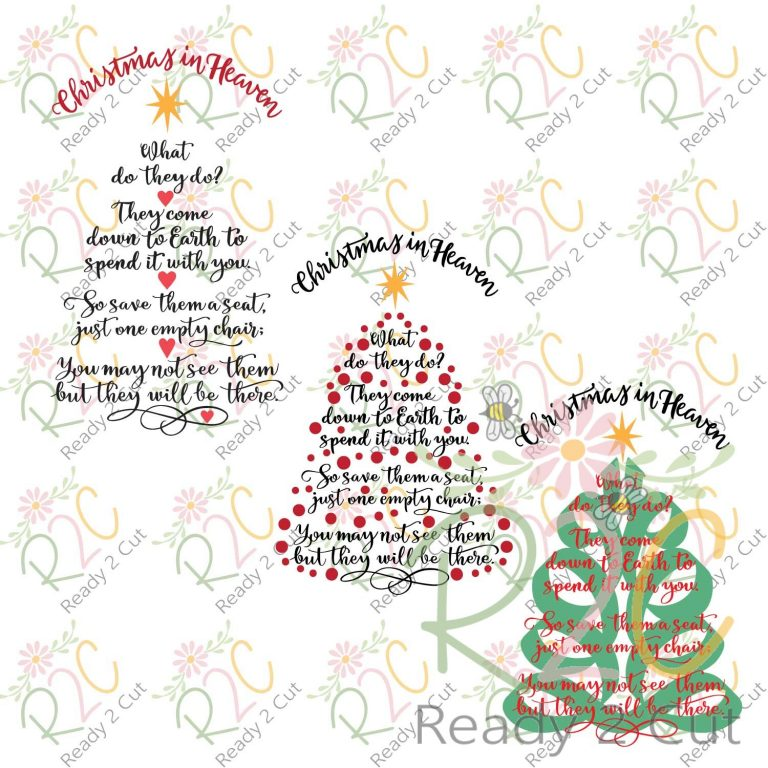 Christmas In Heaven.Christmas In Heaven Tree 3 Design Set