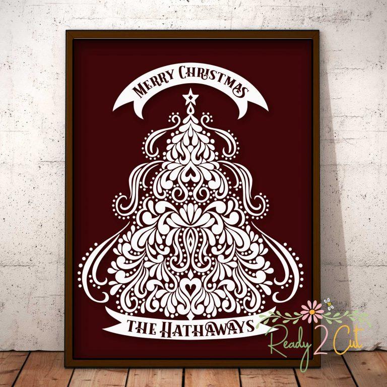Christmas Tree Of Swirls Ready 2 Cut Designs