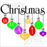 Christmas is Magic - pretty Christmas ornaments. Vector files for you to download and makes something pretty.