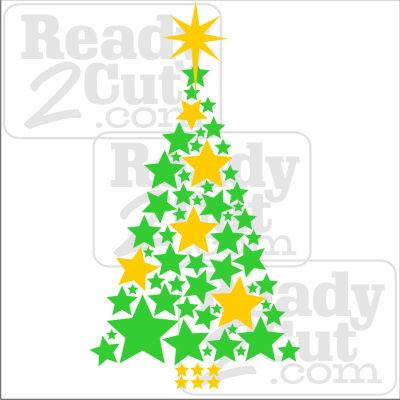 christmas tree made of stars - Christmas Tree Stars