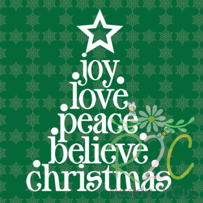 Christmas Tree Words