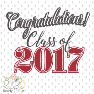 Class of 2017 instant download vector files