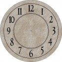 Clock Face - Round with Antique Numbers