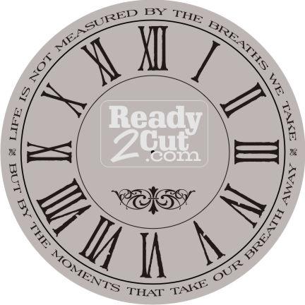 clock face round roman numerals breaths we take ready 2 cut