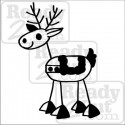 Reindeer - Crayon Family Style - vector images