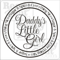 Daddy's Little Girl - round layout