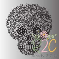 Daisy Skull sugar skull digital file download