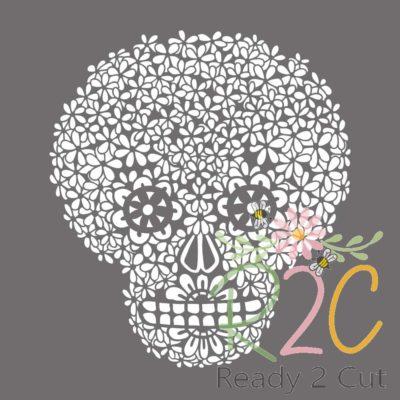 Daisy Skull sugar skull digital file download
