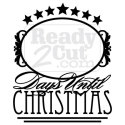 Days until Christmas Countdown for chalkboard or dry erase - vector file download