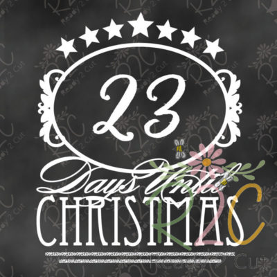 Days until Christmas Victorian Style Count Down Calendar