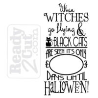 Days till halloween countdown design - vector file download