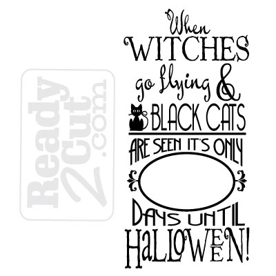 When witches go flying and black cats are seen - Halloween count ...
