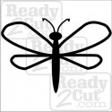 Dragonfly simple and cute - vector image