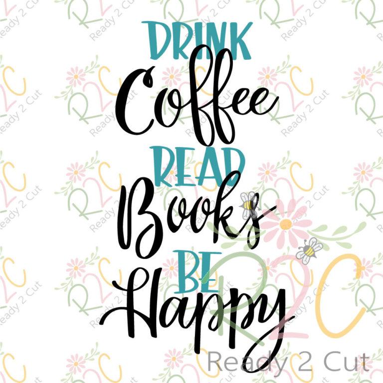 YOU PICK Drink Coffee Be Happy  PurseBag Clip Read Books
