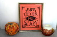 Eat, drink and be scary - halloween decor vector files
