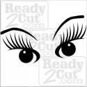 Eyes with lashes - vector image