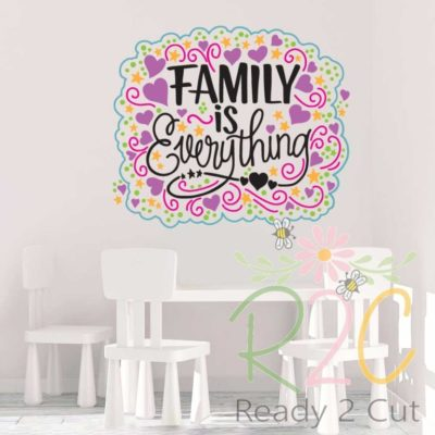Family is Everything Fun Multicolored Design