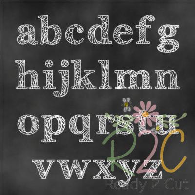 RH Fancy Doodles Font lowercase letters