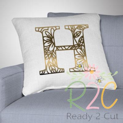 RH Fancy Doodles Font monogram