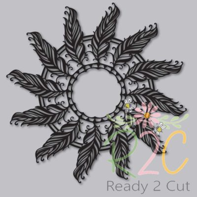 Mandala of feathers digital file download