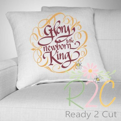 Glory to the newborn King Pillow sample