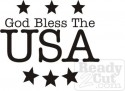 God Bless the USA - with stars