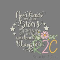 Good friends are like stars digital vector download