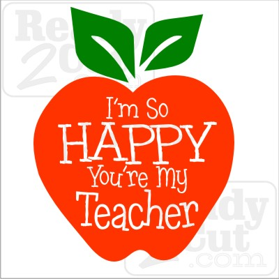 I'm so happy You're my Teacher vector file download