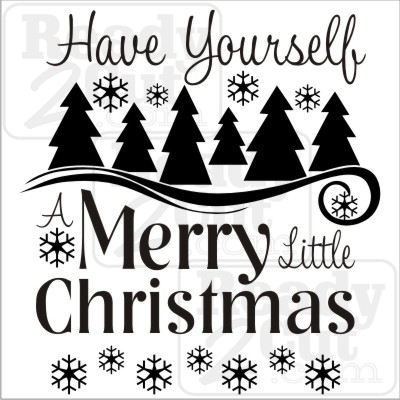 Have yourself a merry little Christmas. Vector files for you to download and use.