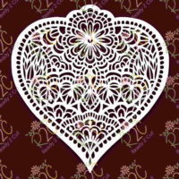 Heart Doodled Intricate Design