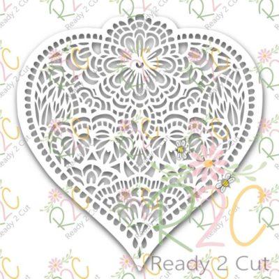Heart Doodled papercut